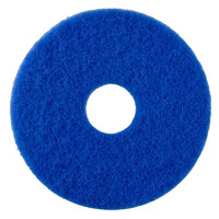 Scrubble by ACS 53-15 Type 53 15 inch Blue Cleaning Floor Pad - 5 / Case