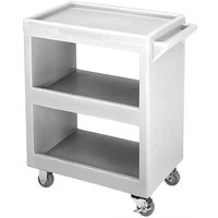 Cambro BC2254S191 Granite Gray Three Shelf Service Cart - 28 inch x 16 inch x 32 1/4 inch
