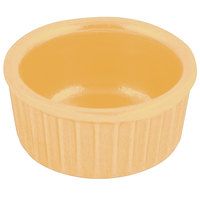 Bon Chef 9024 2 oz. Sandstone Ginger Cast Aluminum Fluted Ramekin