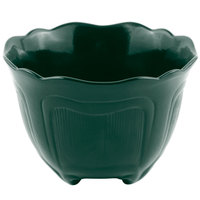 Bon Chef 9060 1.5 Qt. Sandstone Hunter Green Cast Aluminum Garnish Bowl