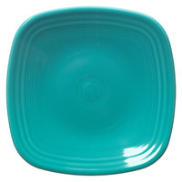 Homer Laughlin 921107 Fiesta Turquoise 7 1/2 inch Square Salad Plate - 12 / Case