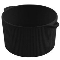 Bon Chef 9145 2 Qt. Sandstone Black Speckled Cast Aluminum Pot with Bail Handle