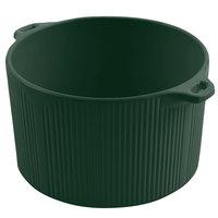 Bon Chef 9145 2 Qt. Sandstone Hunter Green Cast Aluminum Pot with Bail Handle