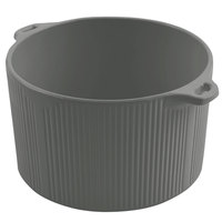 Bon Chef 9145 2 Qt. Platinum Gray Sandstone Finish Cast Aluminum Pot with Bail Handle
