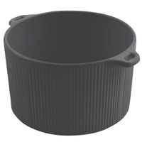Bon Chef 9145 2 Qt. Sandstone Smoke Gray Cast Aluminum Pot with Bail Handle