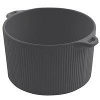 Bon Chef 9145 2 Qt. Smoke Gray Sandstone Finish Cast Aluminum Pot with Bail Handle