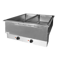 APW Wyott HFWAT-6 Insulated Six Pan Drop In Hot Food Well with Attached Controls and Plug - 208V
