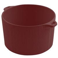 Bon Chef 9145 2 Qt. Terra Cotta Sandstone Finish Cast Aluminum Pot with Bail Handle