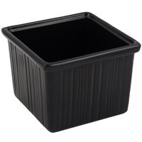 Bon Chef 9503 28 oz. Sandstone Black Cast Aluminum Space Saver Garnish Bowl