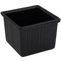 Bon Chef 9503 28 oz. Black Speckled Sandstone Finish Cast Aluminum Space Saver Garnish Bowl