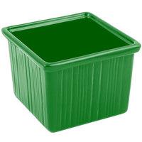 Bon Chef 9503 28 oz. Calypso Green Sandstone Finish Cast Aluminum Space Saver Garnish Bowl