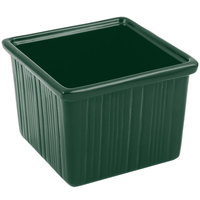 Bon Chef 9503 28 oz. Sandstone Hunter Green Cast Aluminum Space Saver Garnish Bowl