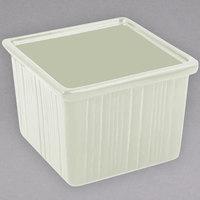 Bon Chef 9503 28 oz. Ivory Sandstone Finish Cast Aluminum Space Saver Garnish Bowl