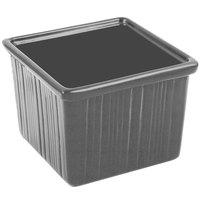Bon Chef 9503 28 oz. Smoke Gray Sandstone Finish Cast Aluminum Space Saver Garnish Bowl