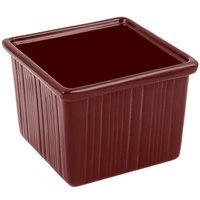 Bon Chef 9503 28 oz. Terra Cotta Sandstone Finish Cast Aluminum Space Saver Garnish Bowl