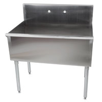 Regency One Bowl 36 inch x 21 inch Stainless Steel Commercial Compartment Sink
