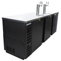 Beverage-Air DD94HC-1-B (2) Double Tap Kegerator Beer Dispenser - Black, (5) 1/2 Keg Capacity
