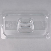Rubbermaid FG121P23CLR 1/3 Size Clear Food Pan Lid with Peg Hole and Handle
