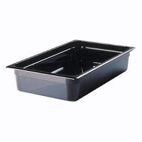 Rubbermaid FG239P00BLA 1/2 Size Long Black High Heat Food Pan - 2 1/2 inch Deep