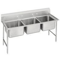Advance Tabco 9-3-54 Super Saver Three Compartment Pot Sink - 62 inch