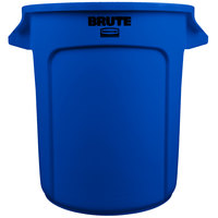 Rubbermaid 1779699 BRUTE Blue 10 Gallon Trash Can
