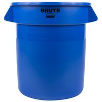 Rubbermaid BRUTE 1779699 Blue 10 Gallon Trash Can