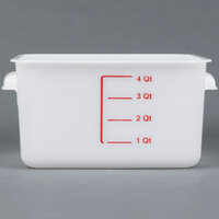 Rubbermaid 9504 4 Qt. White Square Food Storage Container (FG9F0400WHT)