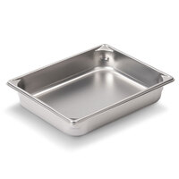 Vollrath Super Pan V 30122 2/3 Size Anti-Jam Stainless Steel Steam Table / Hotel Pan - 2 1/2 inch Deep