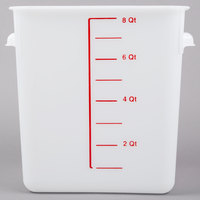 Rubbermaid FG9F0600WHT 8 Qt. White Square Food Storage Container