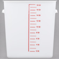 Rubbermaid FG9F0800WHT 18 Qt. White Square Food Storage Container