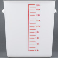 Rubbermaid 9F08 18 Qt. White Square Food Storage Container (FG9F0800WHT)