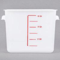 Rubbermaid FG9F0500WHT 6 Qt. White Square Food Storage Container