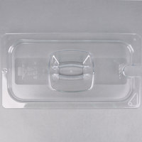 Rubbermaid FG121P86CLR 1/3 Size Clear Notched Food Pan Lid with Handle