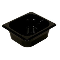 Rubbermaid FG211P00BLA 1/4 Size Black High Heat Food Pan - 4 inch Deep