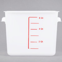 Rubbermaid FG9F0700WHT 12 Qt. White Square Food Storage Container