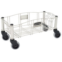 Rubbermaid FG355300 Stainless Steel Wire Slim Jim Dolly for Slim Jim Containers (FG355300SSSTL)