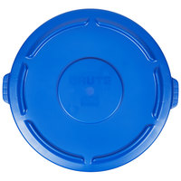 Rubbermaid 1779733 BRUTE Blue 55 Gallon Trash Can Lid