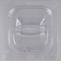 Rubbermaid FG108P23CLR 1/6 Size Clear Food Pan Lid with Peg Hole and Handle