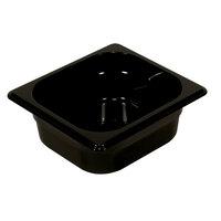 Rubbermaid FG212P00BLA 1/4 Size Black 6 inch Deep Hot Food Pan