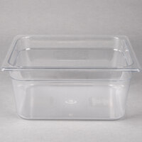 Rubbermaid FG125P00CLR 1/2 Size Clear Food Pan - 6 inch Deep