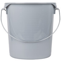 Rubbermaid FG572900GRAY 22 Qt. Gray Round Food Storage Container with Bail