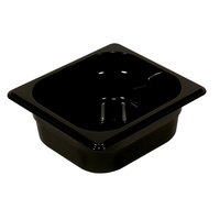 Rubbermaid FG205P00BLA 1/6 Size Black High Heat Food Pan - 4 inch Deep