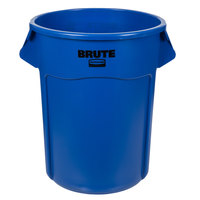 Rubbermaid 1779732 BRUTE Blue 55 Gallon Trash Can