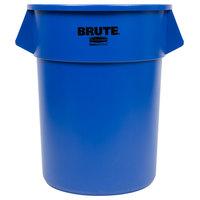 Rubbermaid BRUTE 1779732 Blue 55 Gallon Trash Can