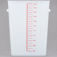 Rubbermaid FG9F0900WHT 22 Qt. White Square Food Storage Container