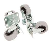 2 inch Screw In Swivel Plate Casters - 4/Set