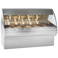 Alto-Shaam HN2SYS-72 S/S Stainless Steel Heated Display Case with Curved Glass and Base - Full Service 72 inch