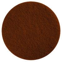 Scrubble by ACS 71-17 17 inch Brown Stripping Floor Pad - Type 71 - 5/Case