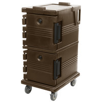 Cambro UPC600131 Dark Brown Camcart Ultra Pan Carrier - Front Load