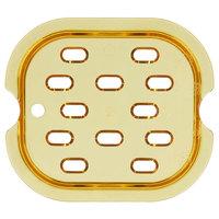 Rubbermaid FG345600AMBR 1/6 Size Amber High Heat Drain Tray